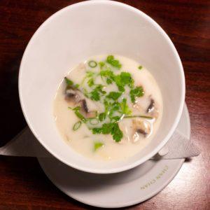 Soup with cocunout milk