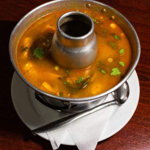 Hot & spicy prawn soup