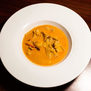 Red curry with coconuts milk