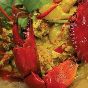 Stir-fried crab curry