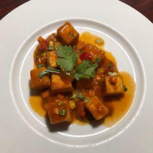 Tofu with sweet chili sauce