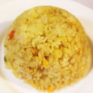 Fried rice with curry, egg