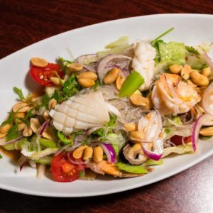 Édes-csípős üvegtészta saláta